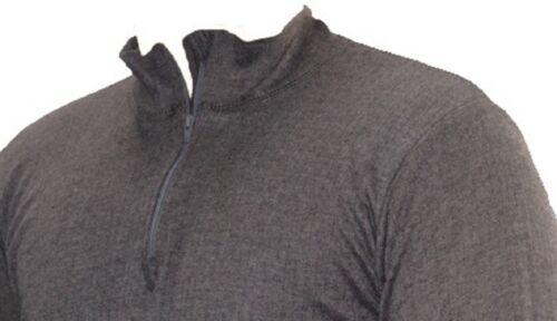 OCTAVE® Mens Thermal Underwear Long Sleeve Zip Neck T-Shirt Vest Top Baselayer
