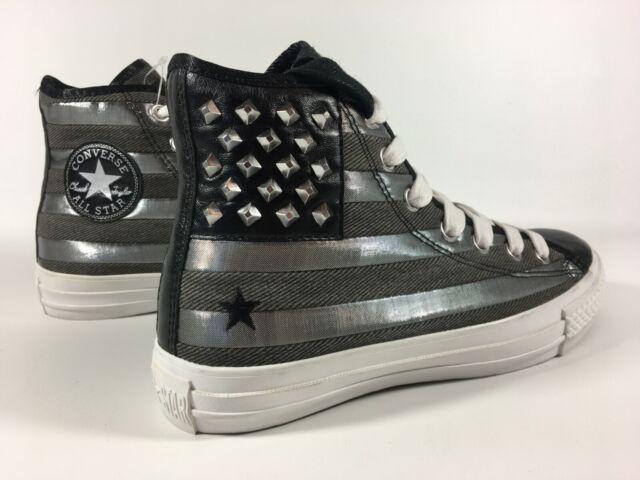 Star Black Silver Studded Hi