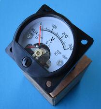 300V~  analoges AC-Voltmeter Einbau-Messinstrument (Drehspulinstrument)