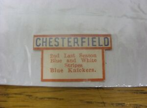 19341935 Chesterfield The 039Champion039 League Ladder  Team Tab Approx 3cm x 2c - <span itemprop=availableAtOrFrom>Birmingham, United Kingdom</span> - Returns accepted within 30 days after the item is delivered, if goods not as described. Buyer assumes responibilty for return proof of postage and costs. Most purchases from business s - Birmingham, United Kingdom