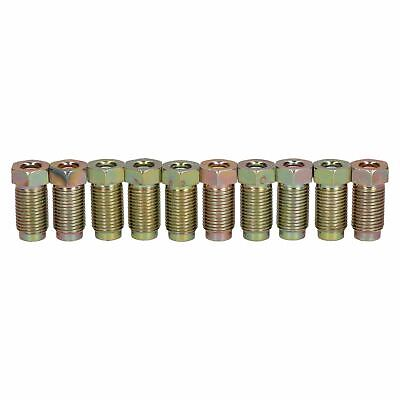 """male to suit 3//16/"""" Qty 10 M10 x 1mm Brake Pipe Nuts Short"""