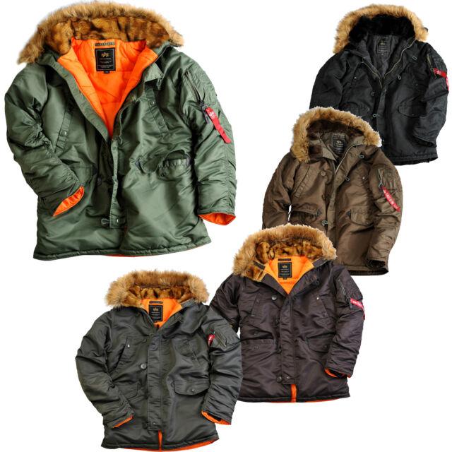Alpha industries N3B VF 59 S 2XL Jacket Flight Bomber Jacket Winter Jacket New
