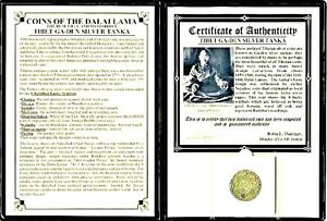 Tibet-Silver-Tanka-Coin-of-the-Dalai-Lama-with-Album-And-Certificate