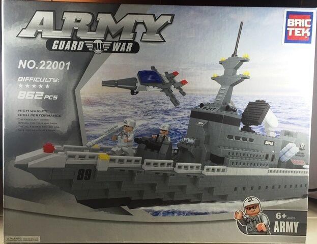 Bric Tek Brictek Army Navy Super War Ship 862 Pcs 22001 Brand New Never Built