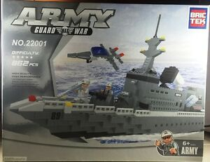 Bric-Tek-Brictek-Army-Navy-Super-War-Ship-862-Pcs-22001-Brand-New-Never-Built