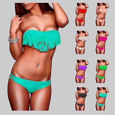 ★★★NEU★★★ Sexy Push Up Tassel Bikini Gr.36/S - 38/M - 40/L ★★★NEU★★★
