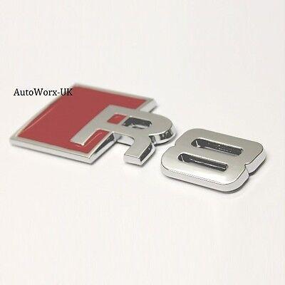 S4 Insignia Emblema Decal Sticker Logo A4 RS4 RS S Tapa Posterior Tronco Portón de arranque de Audi