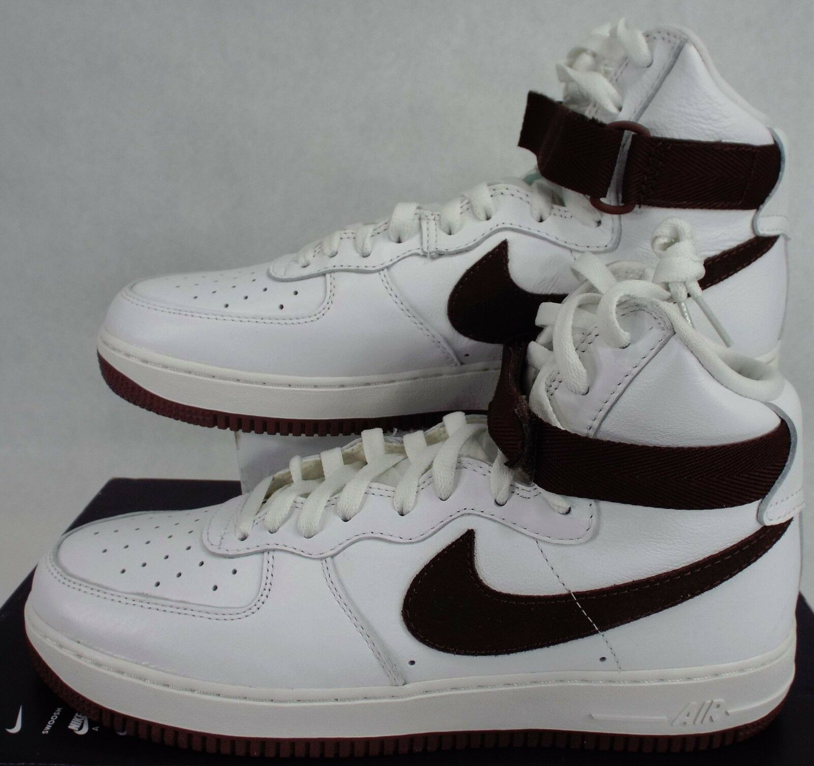New Mens 11.5 Nike Air Force 1 Hi Retro QS White Leather Shoes743546-102