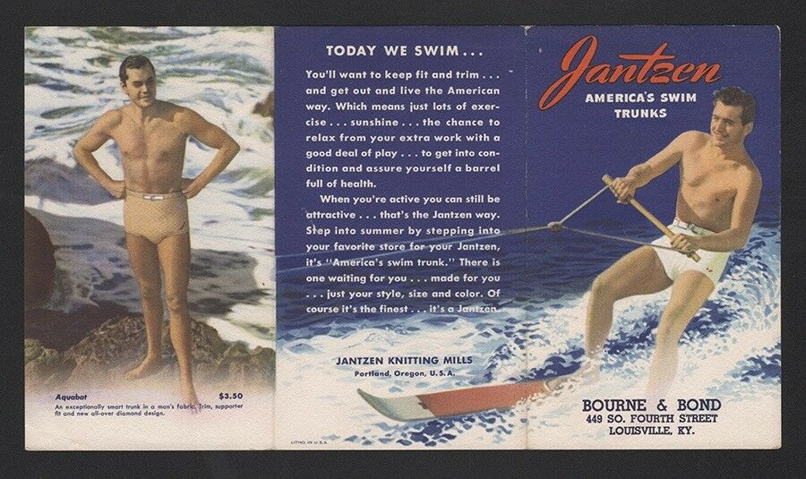 1933 SURF Water Ski - JANTZEN - PACIFIC SYSTEM HOMES surfboard - PORTLAND OREGON