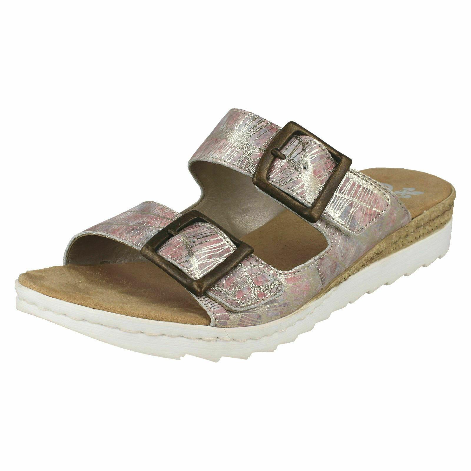 Rieker 63094-90 Damen Sandalen Pantoffeln