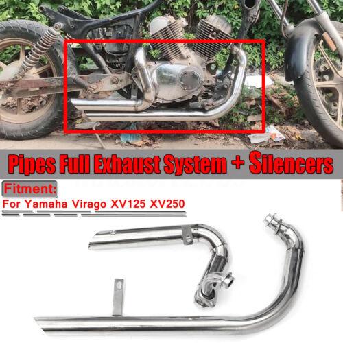 Silencers For Yamaha Virago V-star XV125 XV250 Full Exhaust System Pipes