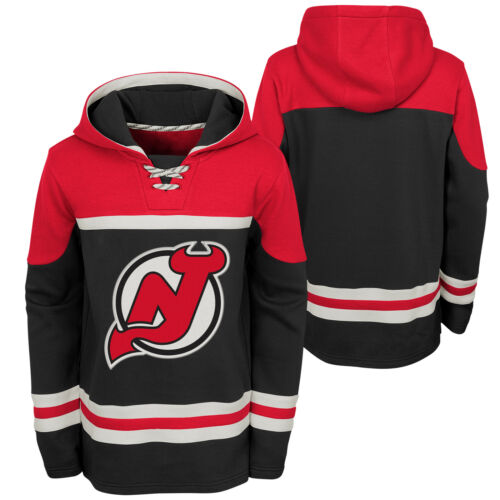 NHL New Jersey Shirt Devils Asset Pullover Hockey Hoodie Top Sweater Youth Kids
