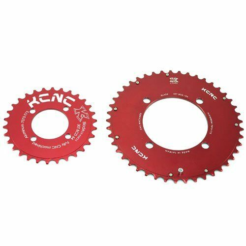 KCNC CNC 7075 Alloy Chainring Set 4530T, BCD 10464mm, rosso