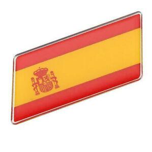 Aufkleber-Spanien-Spain-3D-Auf-Kleber-Schriftzug-Flagge-Metall-selbstklebend