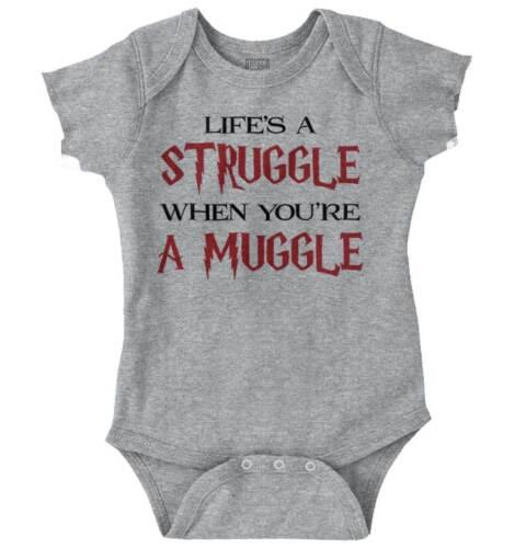 Life Struggle Muggle Funny Shirt Cool Gift Cute Romper Bodysuit