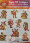 Easy 3D Die Cut Card Toppers Christmas Snowman Santa Candles Stars 10 Designs