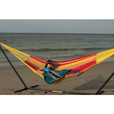 New Cotton Double Mexican Hammock | Unique Breezy Point® Mayan Hammocks Camping
