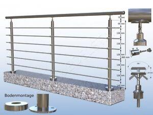 2m Edelstahl Gelander Handlauf Bausatz Selbstmontage Ebay