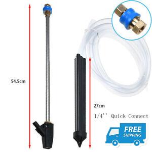 Sandblaster Gun Nozzle Pressure Washer Suction Pipe 1//4 Quick Connect Adapter