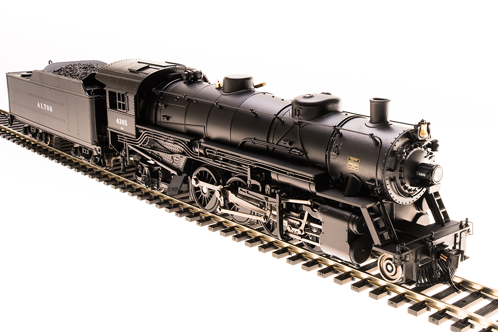 Broadway Limited HO Alton Light Mikado 2-8-2  4385 P3 Sound/DC/DCC 5565 ~ Nuovo