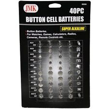 40 PC. BUTTON CELL ASSORTED COIN BATTERIES 40 PIECE ALKALINE piece watch camera