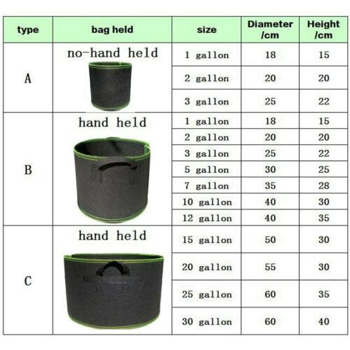 1 20 gallon flower Tree Pots plant Grow Bags growing fabric pot home garden tool