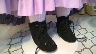 """Black Doll Sandals Shoes 2 1//8/"""" X 1/"""""""