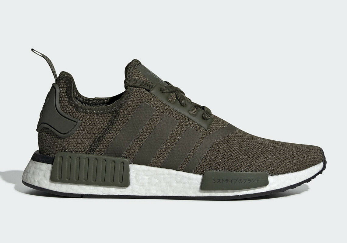 Adidas NMD_R1 Night Cargo Green JAPAN 2019 BD7755 Size 11.5 Boost Sneakers NEW