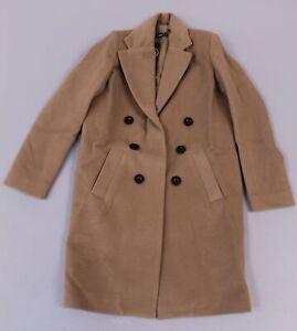 boohoo-Women-039-s-Petite-Double-Breasted-Duster-Coat-SV3-Camel-UK-8-US-4-NWT