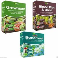 Vitax Fertiliser - Growmore, Blood Fish & Bone, Bonemeal Garden Organic Growing