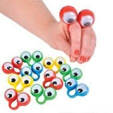 (6) OOBI FINGER EYE HAND PUPPETS Noggin Party Favor Wiggly #AA57 Free Shipping