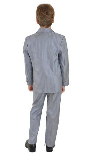 5 teiliger Kinderanzug Jungen Anzug Kombination Gr 110 grau m Nadelstreifen