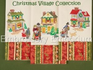 MACHINE EMBROIDERY DESIGNS ON CD OR USB CHRISTMAS VILLAGE COLLECTION
