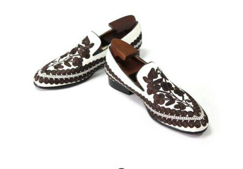 Mens Embroider Embroider Embroider Slip On Closed Toe Casual Canvas Loafers scarpe Leisure Boat scarpe b9c58a
