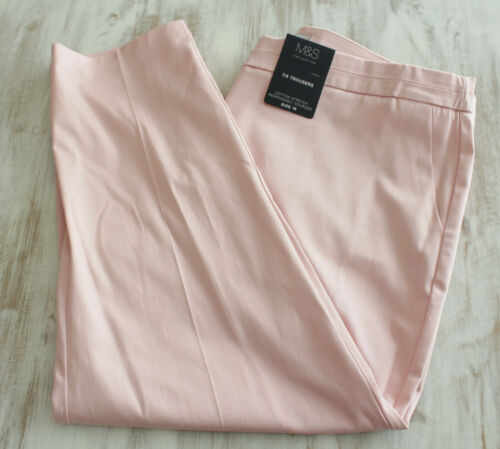 Ladies M/&S Sizes 8 12 18 20 Cotton 7//8ths Trousers with Stretch