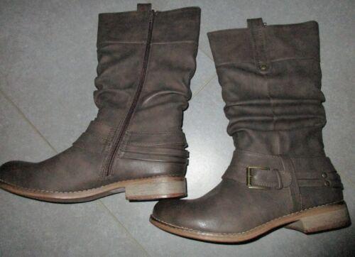 Rieker Schuhe ZierschnalleBraun Gr41 Stiefel Warmfutter Stiefeletten dsQthr