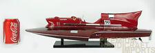 Ferrari Hydroplane Classic Wooden Speed Boat Display Model