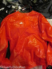 Mizuno Rubber RED BLACK BLUE Polyurethane Shiny WetLook baseball pullover jacket