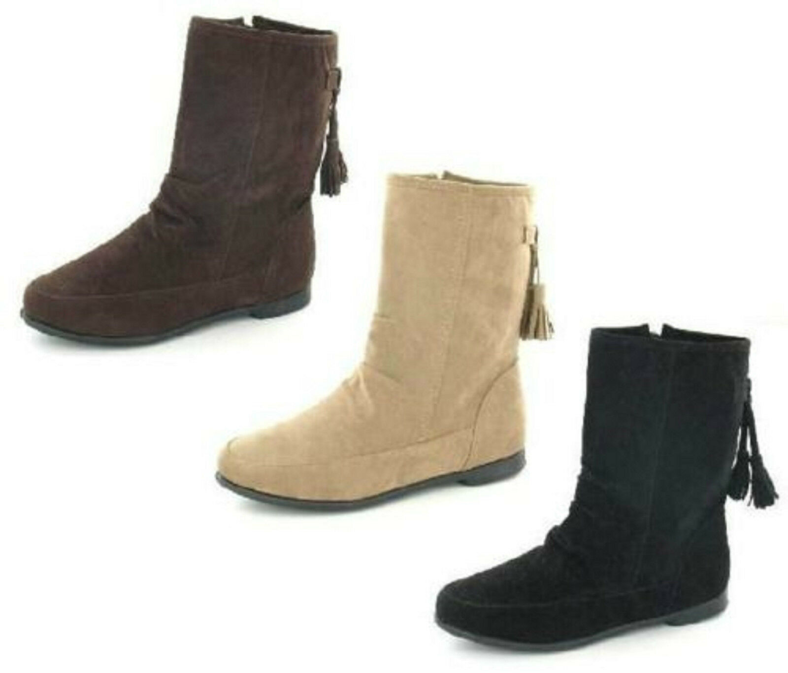 Sale Ladies Spot On textile ankle boot F4359