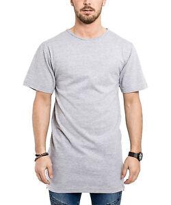 1d7c1ebfa9a244 Das Bild wird geladen Phoenix-Oversize-Side-Zip-T-Shirt-Grau-Longshirt-