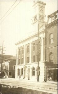Waterford-NY-Town-Hall-c1910-Real-Photo-Postcard