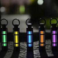Titanium Hang Keychain Self Illuminating Fluorescence Glow Light Tritium Marker