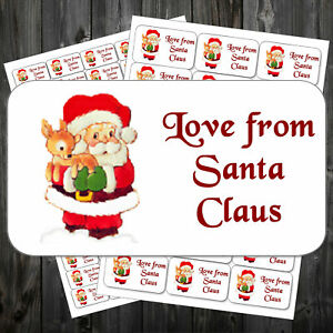 Love-Santa-Christmas-Stickers-Adhesive-38-1mm-x-63-5mm-Or-21-2mm-x-38-1mm