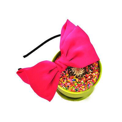 Stylish Largest  Hair Bow Women Boutique Ribbon Big Bows Hair Clip Headband