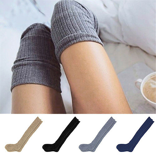 AM/_ FT Winter Warm Women Knit Crochet Soft Thigh-High Thick Stockings Long Sock