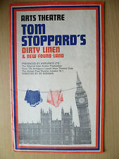 Arts Theatre Programme 1976- DIRTY LINEN & NEW FOUND LAND BY Tom Stoppard