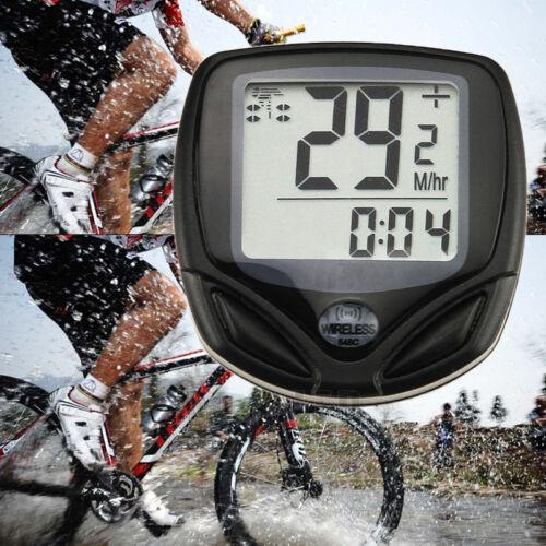 LCD sans fil numérique cycle Ordinateur Vélo Compteur de vitesse Odomètre étanche