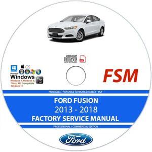 Ford Fusion 2013 2014 2015 2016 2017 2018 Service Repair Manual On Cd Ebay