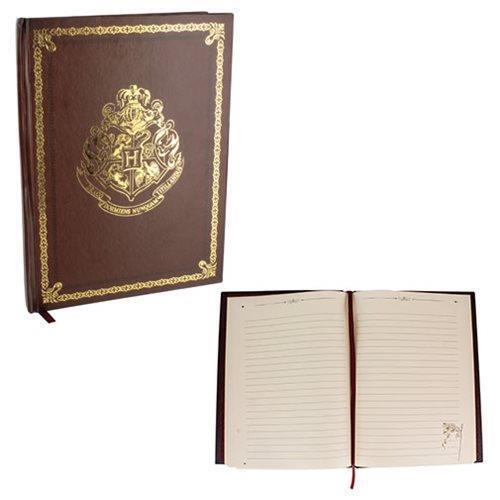 HARRY POTTER Licensed Deluxe HOGWARTS School Crest JOURNAL Hardcover Notebook