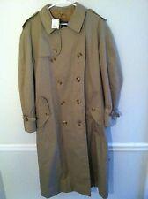 Burberrys men's size 46 khaki trench line raincoat belt long used pre-owned